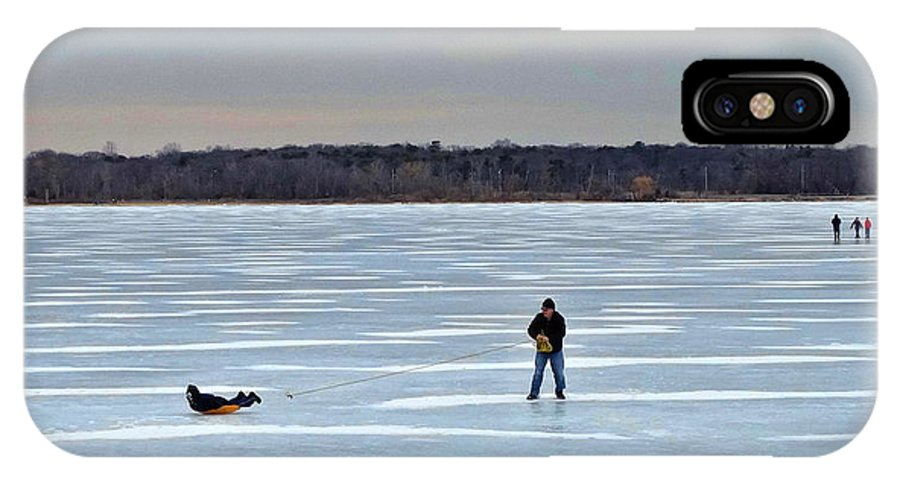 Lake IPhone X Case featuring the photograph Ice Skipper by Tony Ambrosio