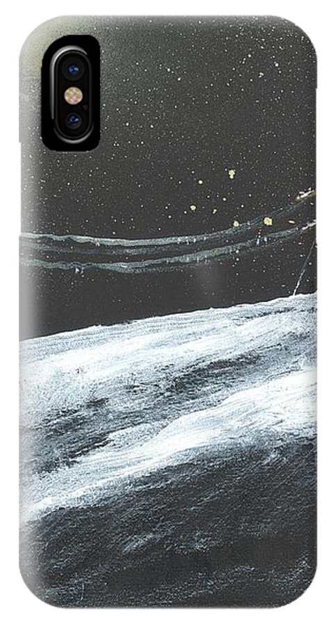 Ice IPhone X Case featuring the painting Ice Storm by Patrick Grills