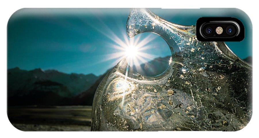 Alaska IPhone X Case featuring the photograph Ice With Sunburst by Michele Cornelius