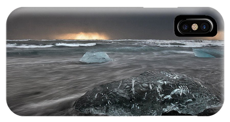 Ice IPhone X Case featuring the photograph Iceberg Led Us by Jim Southwell