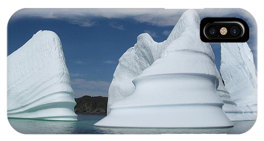 Iceberg Newfoundland IPhone X Case featuring the photograph Icebergs by Seon-Jeong Kim