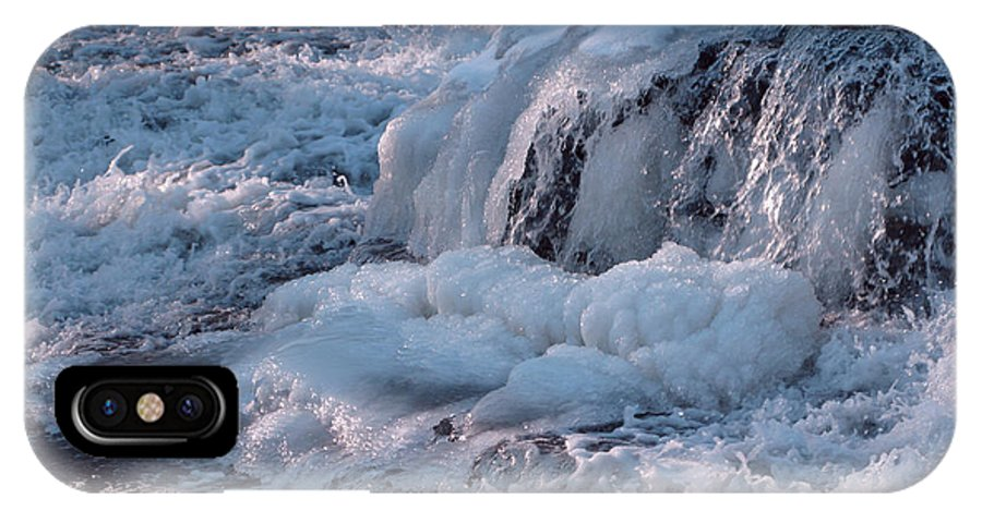 Winter IPhone Case featuring the photograph Iced Water by Ann Horn