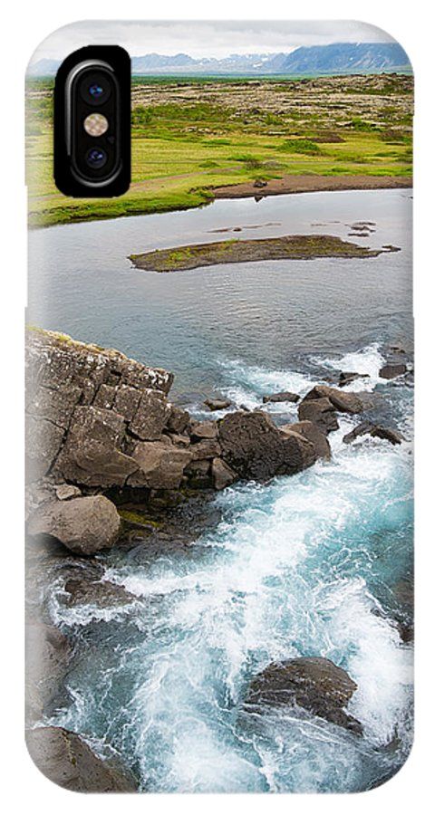 Iceland IPhone X Case featuring the photograph Iceland Pingvellir National Park by Matthias Hauser