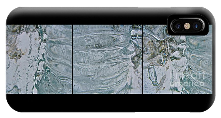 Marie IPhone X Case featuring the photograph Icicle Abstract Triptych 2 by Marie Spence