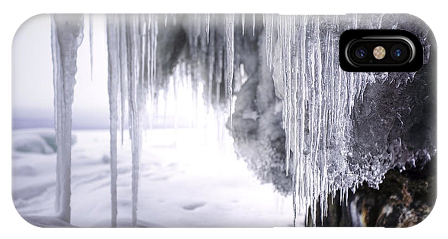 Aboriginal IPhone X Case featuring the photograph Icicles by Jakub Sisak