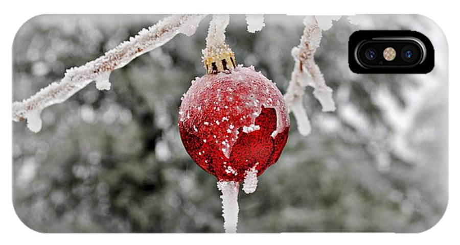 Ornament IPhone X Case featuring the photograph Icy Glazing by Kelly Nowak