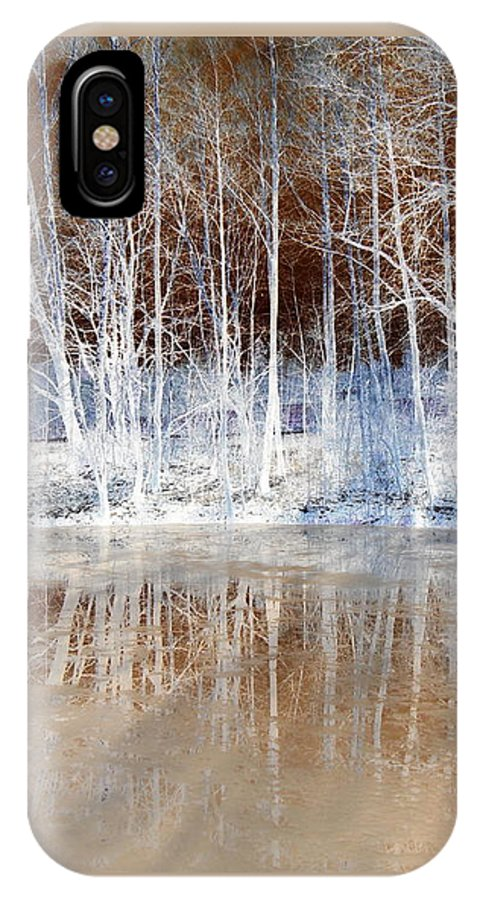 Ice IPhone X Case featuring the photograph Icy Reflections by The Creative Minds Art and Photography