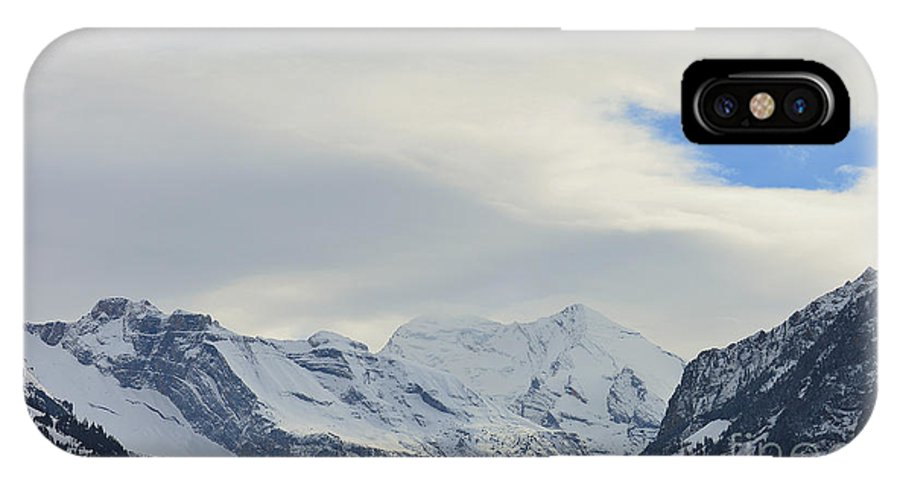 Alps IPhone X Case featuring the photograph Icy View by Felicia Tica