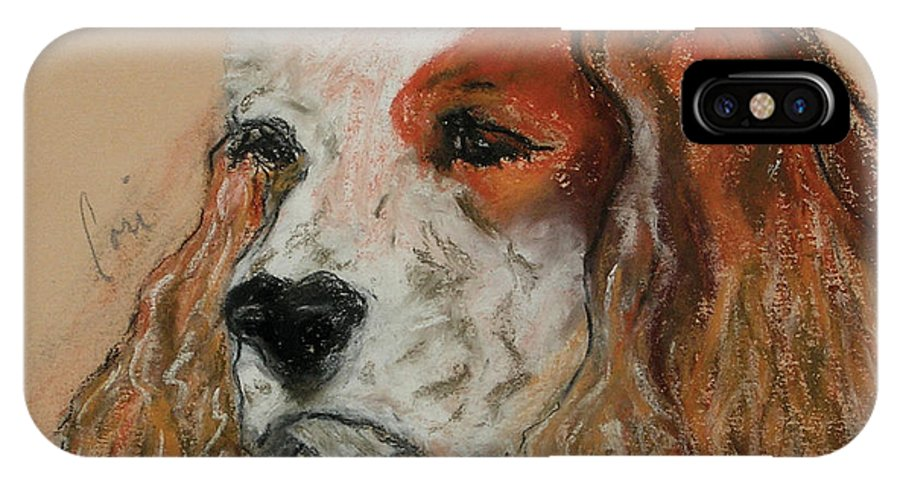 Dog IPhone Case featuring the pastel Idle Thoughts by Cori Solomon