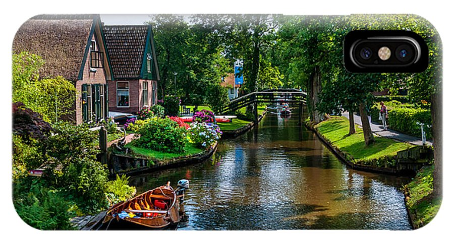 Netherlands IPhone X Case featuring the photograph Idyllic Village 15. Venice Of The North by Jenny Rainbow