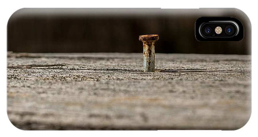 Nail IPhone X Case featuring the photograph If I Had A Hammer by Carlton Griffith