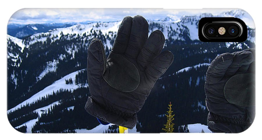 Kym Backland IPhone X Case featuring the photograph If The Glove Fits by Kym Backland