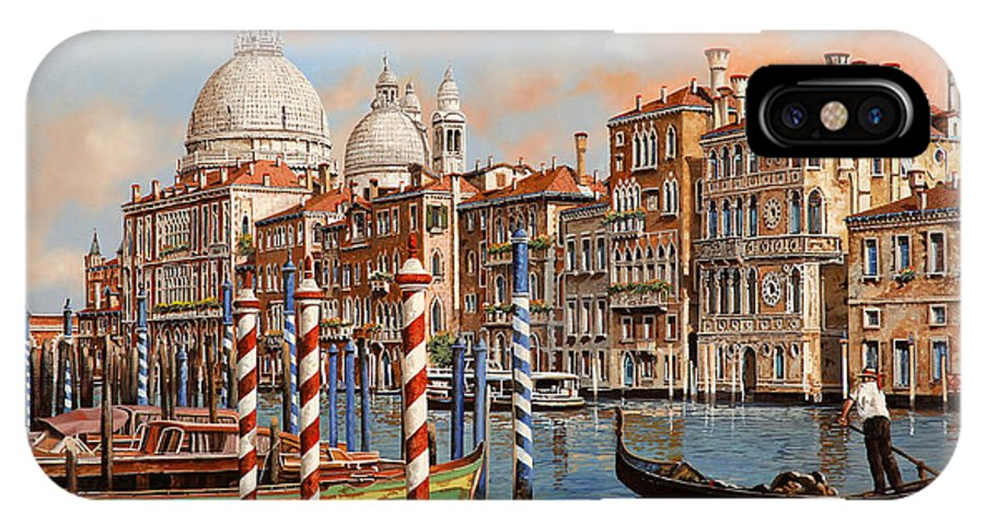 Venice IPhone X Case featuring the painting Il Canal Grande by Guido Borelli