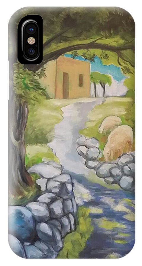 Ulivo IPhone X Case featuring the painting Il Sentiero by Oronzo Curvo