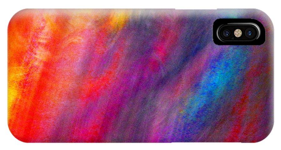 Colorful IPhone X Case featuring the digital art Illumination by Expressionistart studio Priscilla Batzell