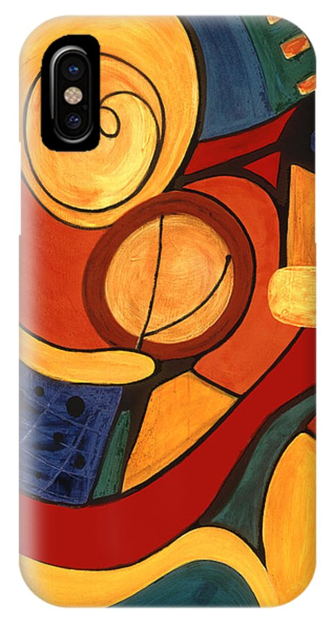 Abstract Art IPhone X Case featuring the painting Illuminatus 3 by Stephen Lucas