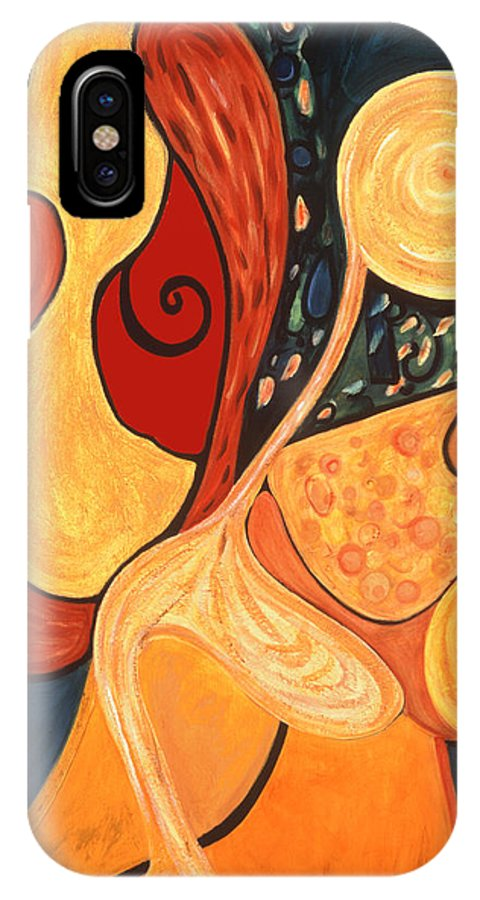 Abstract Art IPhone X Case featuring the painting Illuminatus 4 by Stephen Lucas