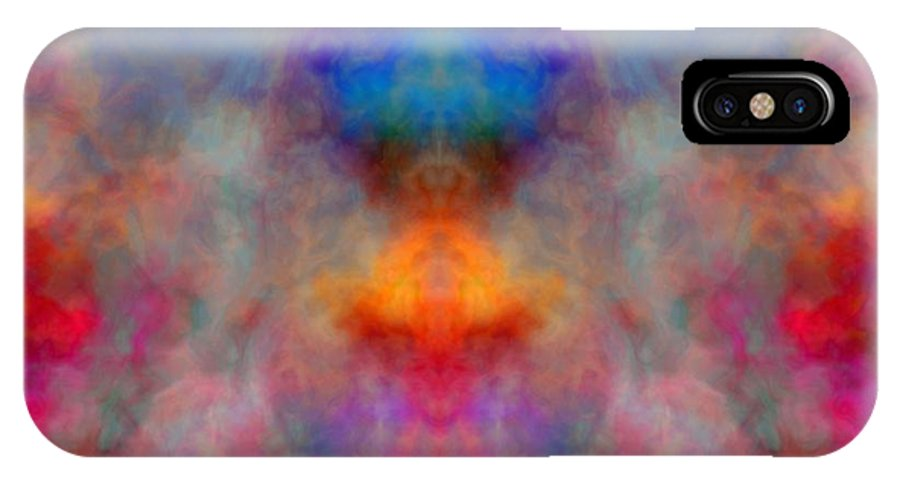 Illusion IPhone X Case featuring the digital art Illusion by Christy Leigh