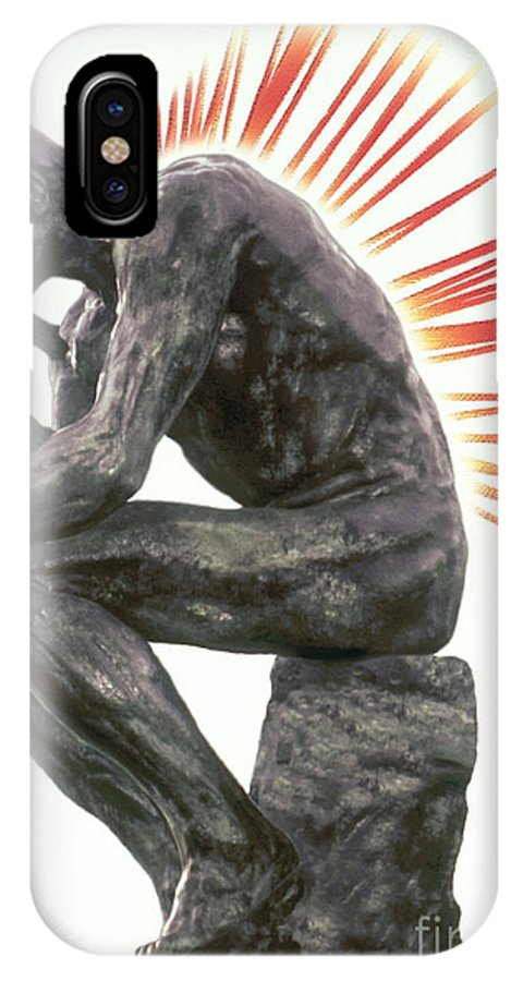 Back Pain IPhone X / XS Case featuring the photograph Illustration Of Back Pain by Dennis Potokar