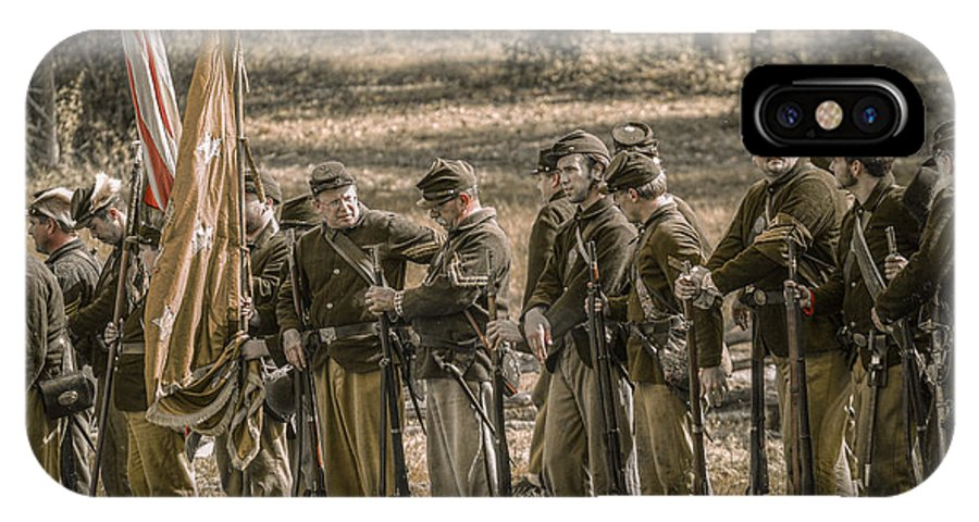 Images Of The Civil War IPhone X Case featuring the digital art Images Of The Civil War Union Soldiers by Randy Steele