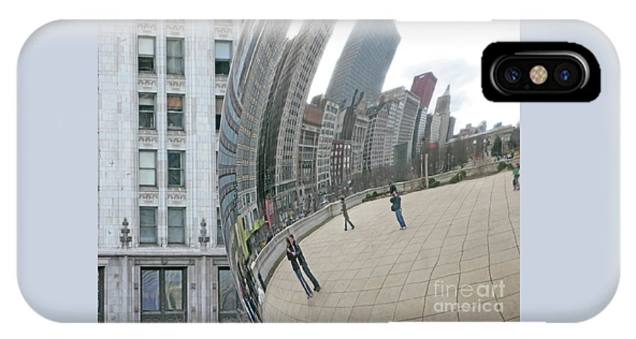 Chicago IPhone X Case featuring the photograph Imaging Chicago by Ann Horn