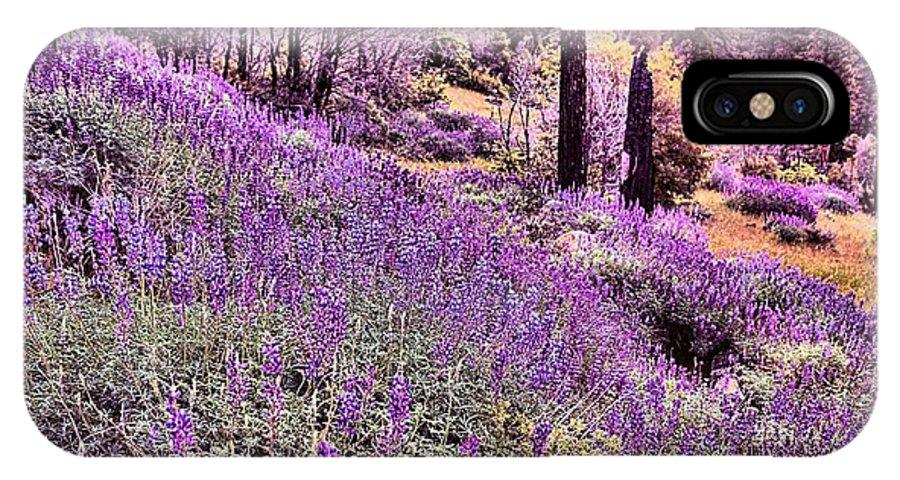 Yosemite IPhone X Case featuring the photograph Img 4892_ Purple Lupine_ Yosemite National Park by Randy Matthews