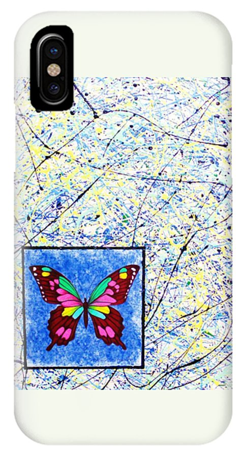 Abstract IPhone Case featuring the painting Imperfect I by Micah Guenther