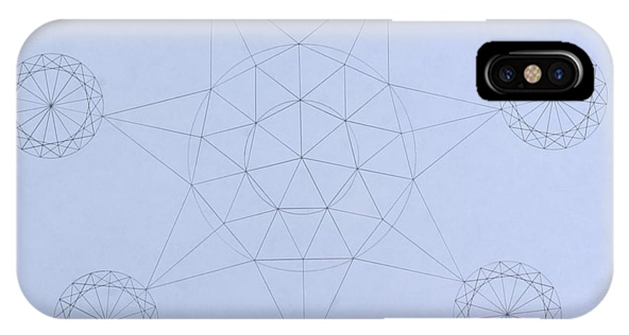 Jason Padgett IPhone X Case featuring the drawing Impossible Parallels by Jason Padgett