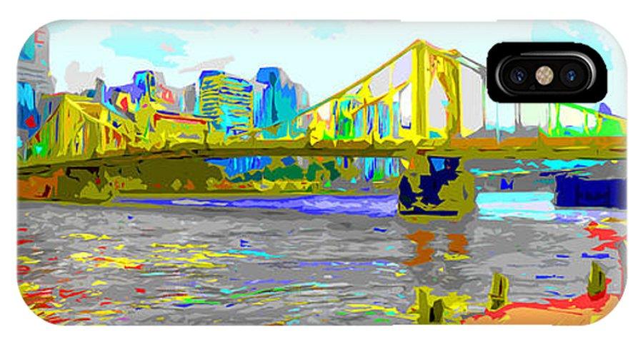 Clemente IPhone X Case featuring the photograph Impressionist Clemente Bridge 2 by C H Apperson