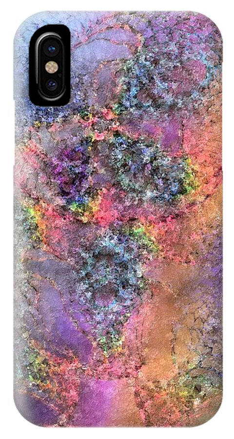 Abstract IPhone X Case featuring the digital art Impressionist Dreams 2 by Casey Kotas