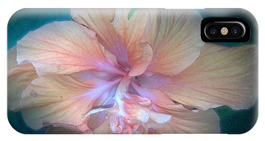 In IPhone X Case featuring the digital art In A Butterfly Garden by Michael Hurwitz