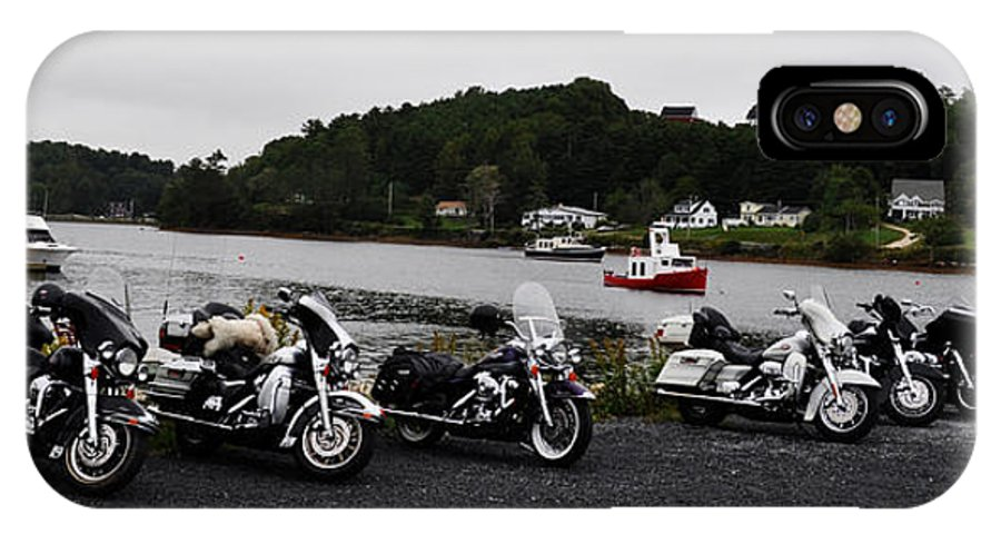 Harley Davidson IPhone X Case featuring the photograph In A Row by Daryl Macintyre