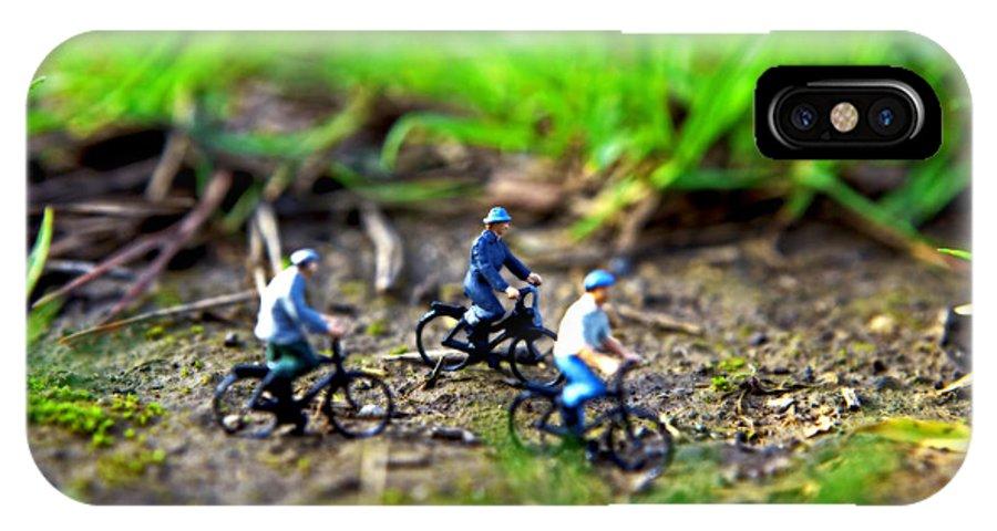 Paesaggio Natura Macro Miniatura IPhone X Case featuring the photograph In Bicicletta Nel Bosco Incantato by Toni Polinni