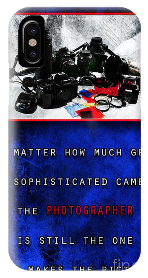 Camera IPhone X Case featuring the photograph In Case Of Doubt by Randi Grace Nilsberg