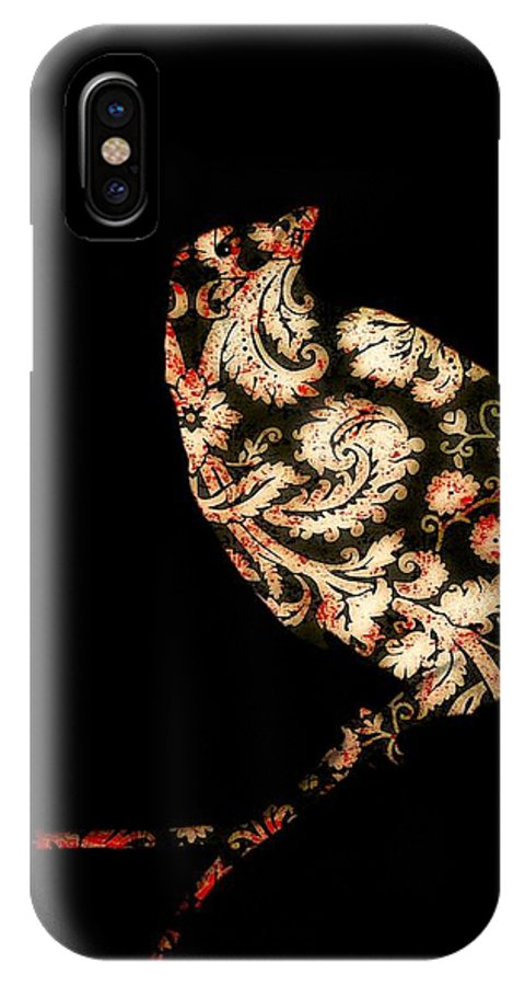Damask IPhone X Case featuring the digital art In Damask by Gothicrow Images