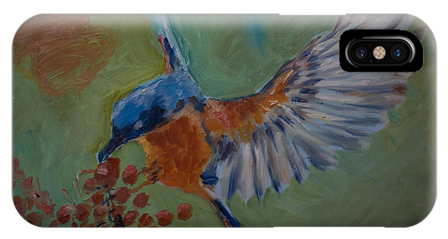 Oil IPhone X Case featuring the painting In-flight Refueling by Horacio Prada