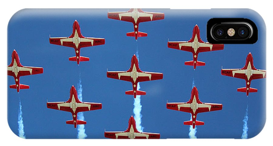 Snowbirds IPhone X Case featuring the photograph In Formation by Randy Hall
