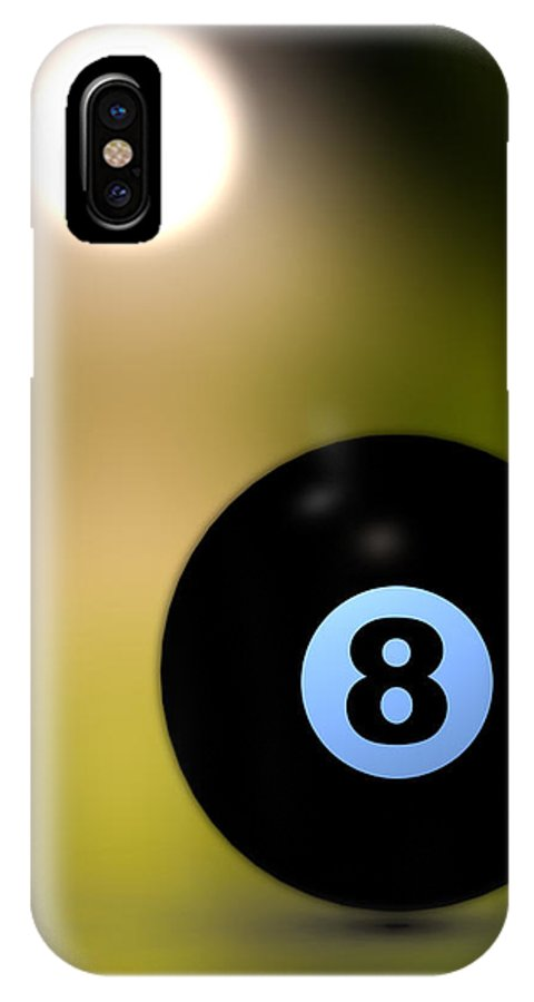 8 Ball IPhone X / XS Case featuring the photograph In Front Of The Eight Ball by Bob Orsillo