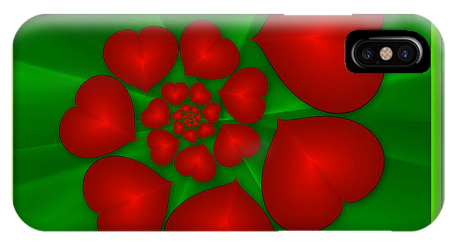 Fractal IPhone X Case featuring the digital art In Love by Gabiw Art