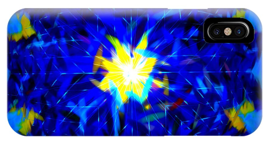 Digital IPhone X Case featuring the digital art In Order For The Light . . . by Renee Trenholm