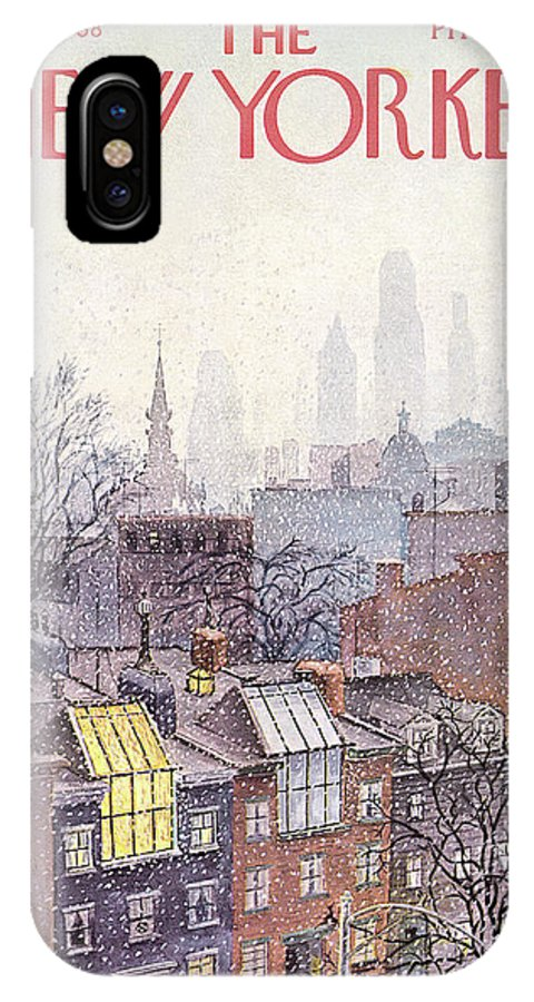 Albert Hubbell Ahu IPhone X Case featuring the painting New Yorker March 2, 1968 by Albert Hubbell