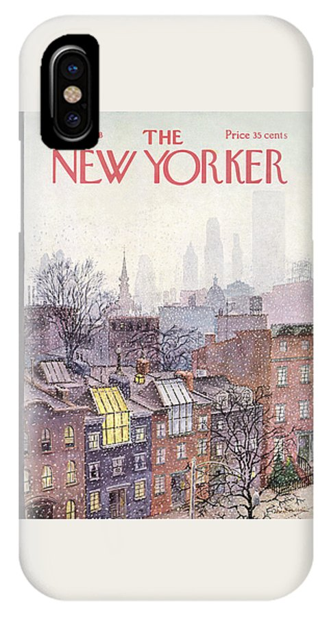Albert Hubbell Ahu IPhone X Case featuring the painting In The Borough by Albert Hubbell