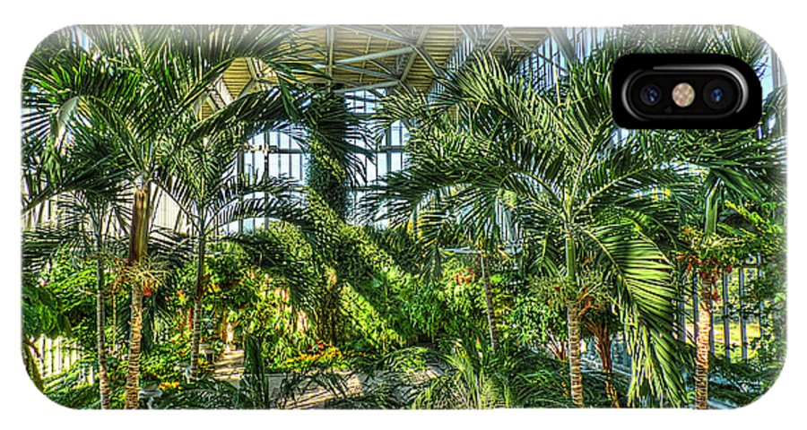 In The Conservatory IPhone X Case featuring the photograph In The Conservatory by William Fields