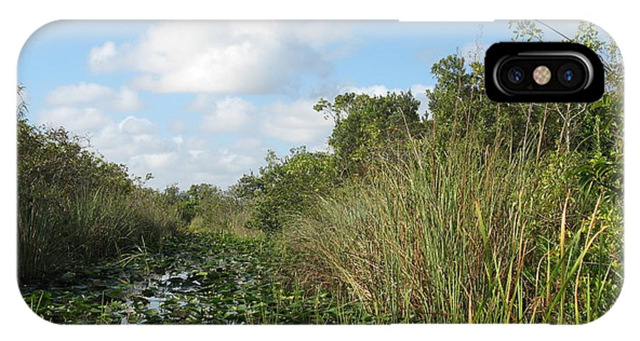Everglades IPhone X Case featuring the photograph In The Everglades by Christiane Schulze Art And Photography