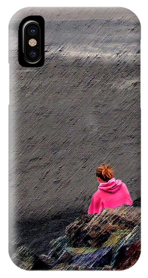 Digital Art IPhone X Case featuring the photograph In The Pink by Wayne Wood