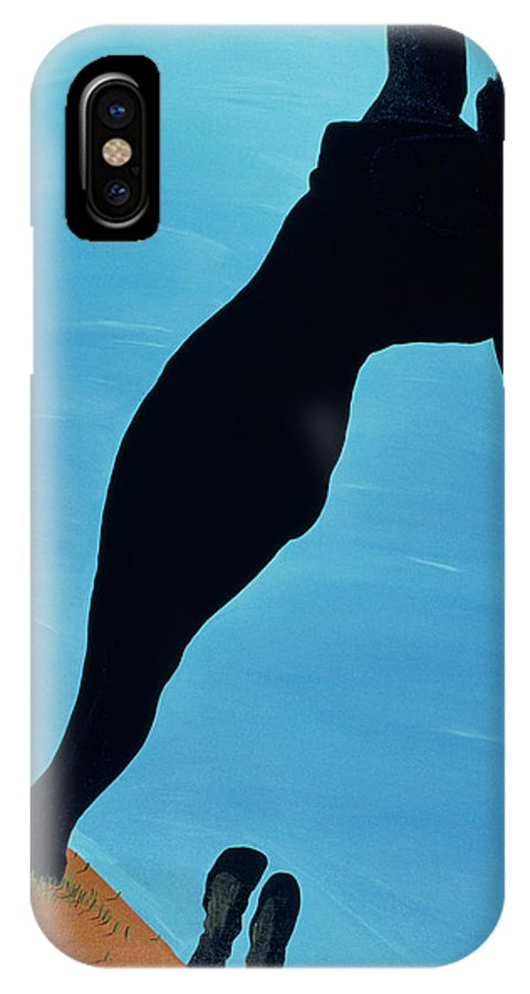 Model IPhone X Case featuring the painting In The Public Eye, 1998 by Marjorie Weiss