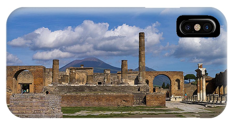Pompeii IPhone X Case featuring the photograph In The Shadow Of The Volcano by Brenda Kean