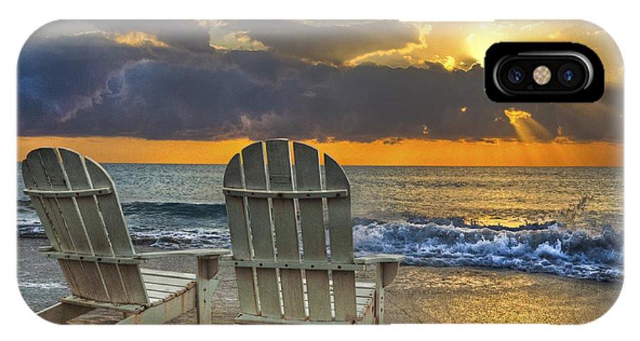 Zen IPhone X Case featuring the photograph In The Spotlight by Debra and Dave Vanderlaan