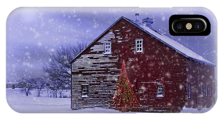Dairy Barns IPhone X Case featuring the photograph In The Still Of The Night by Nikolyn McDonald