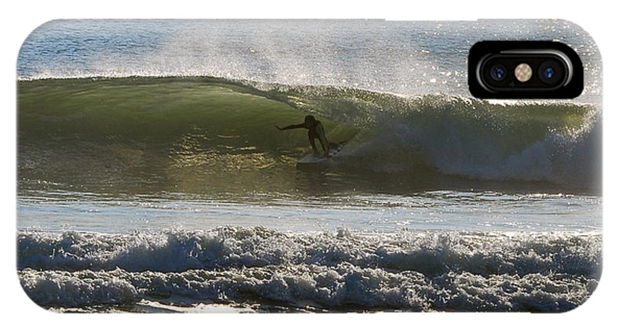 Surfing IPhone X / XS Case featuring the photograph In The Tube by MCM Photography